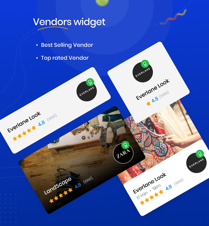 Widget de fornecedores
